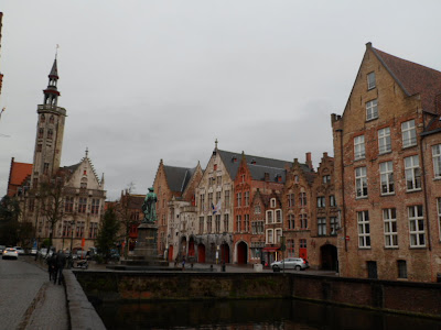 Views along the canal in Bruges, Belgium