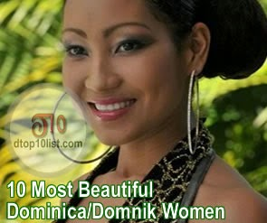 Top 10 Most Beautiful Dominica/Domnik Women