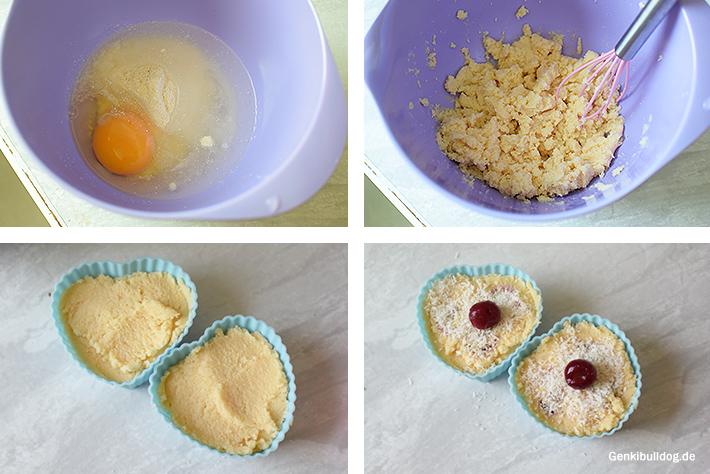 Kokos-Kirsch Muffin Rezept für Hunde