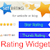 Star Rating and Thumb Rating Widget for Blogger/Website