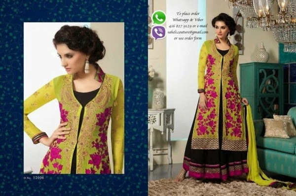 Saheli Couture Latest long Frocks 2014