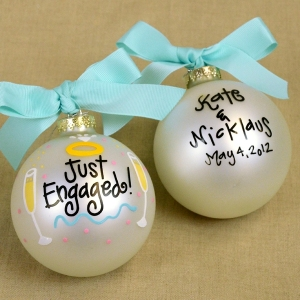 We Re Engaged Christmas Ornament