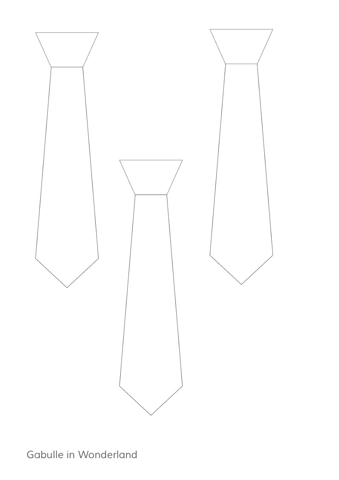 Gabulle in wonderland diy du mercredi marque page cravate d corer pour la f te des p res - Cravate dessin ...