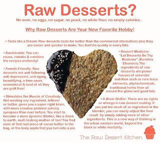 raw desserts heart