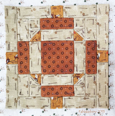 Dear Jane Quilt - Block C10 Patriots Lantern