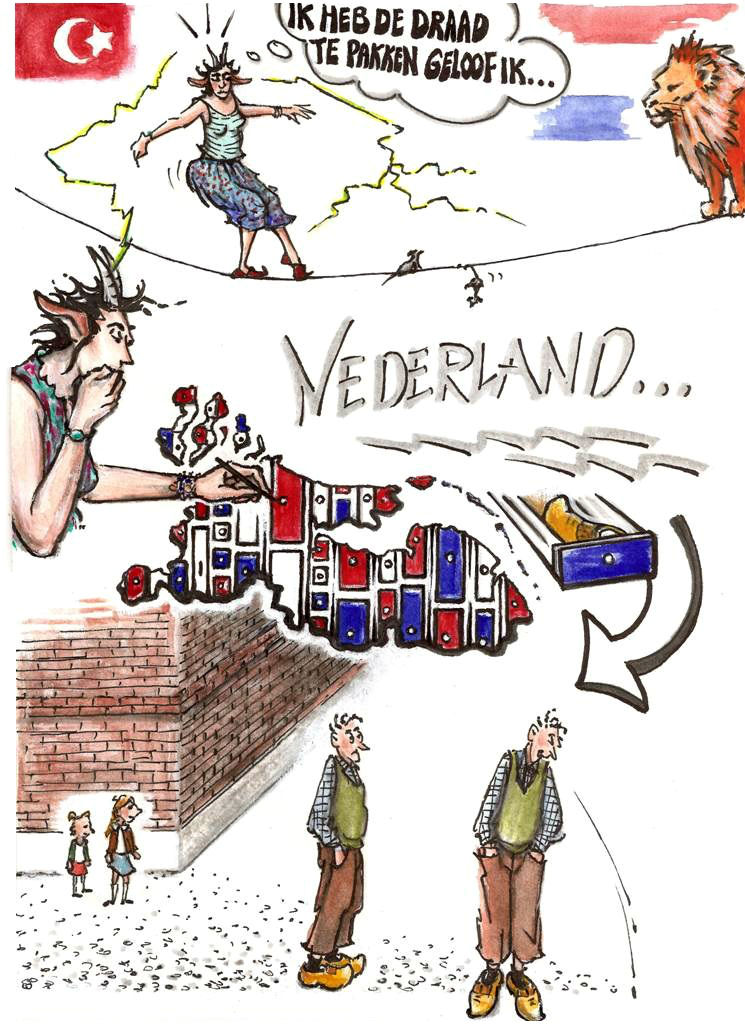 """Graphic novel """"Love and hope in the Netherlands."""""""