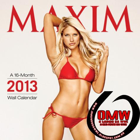 WWE Diva, Kelly Kelly, na capa do calendário da Maxim Magazine 2013