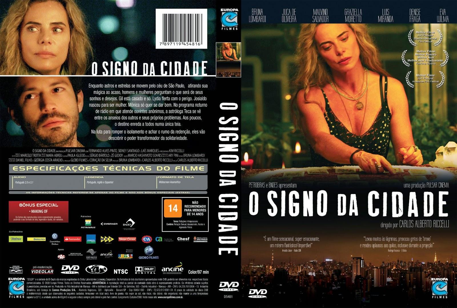 Capa DVD O Signo Da Cidade