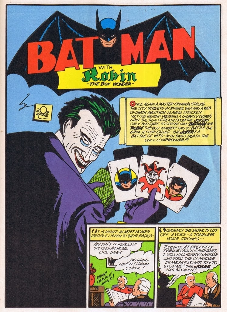 The great comic book heroes the jokers first appearance in batman the jokers first appearance in batman 1 1940 fandeluxe Images