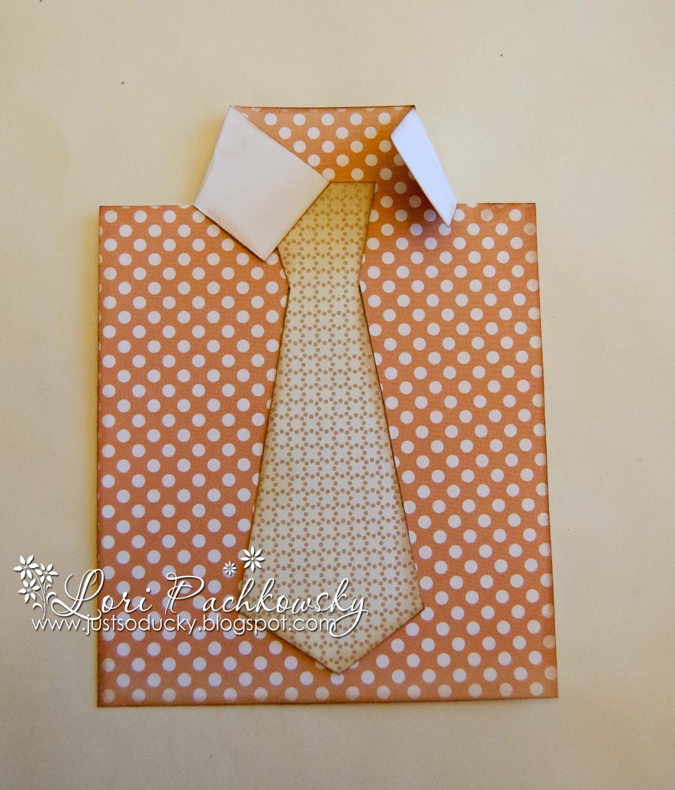 Shirt design card - Next Cut Out The Tie And Sponge All The Edges Of The Shirt And Tie Using A Distress Ink Glue The Tie In Place And Then Fold Down The Two Sides As