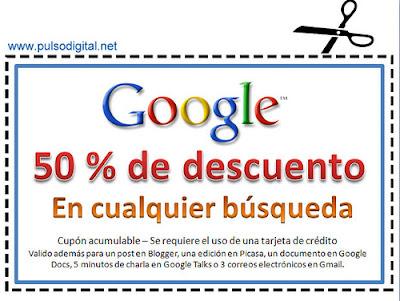 50% de descuento en búsquedas en Google