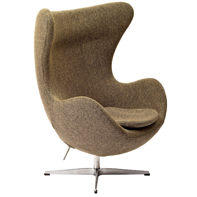 OVERSTOCK ARNE JACOBSEN OATMEAL EGG CHAIR