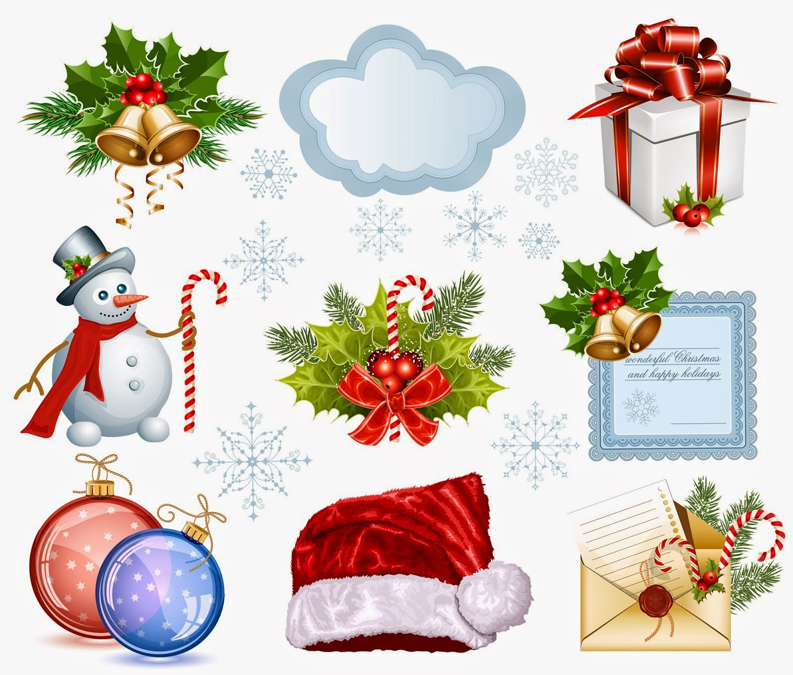Adornos navide os para tarjetas o regalos tarjetas de for Adornos navidenos para colorear y recortar