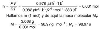 Masa molecular de los elementos ejercicio resuelto de formula empirica y molecular