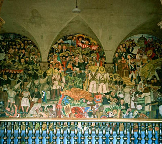 Di rio de viagem cidade do m xico for Diego rivera mural 1929