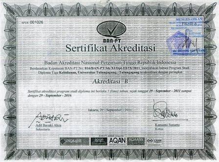 Serifikat Akreditasi