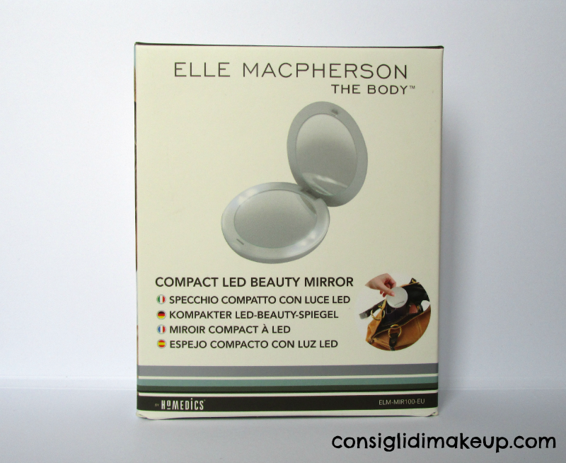 specchio compatto con luce led elle macpherson the body homedics