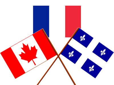 Image result for Quebec and France flag