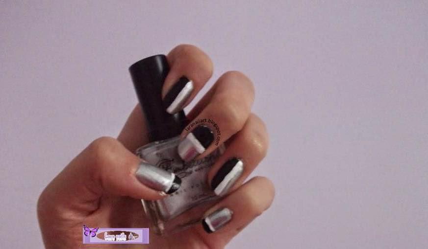 Uñas blanco y negro elegantes paso a paso Lara Nails