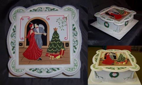 Art Deco Christmas Cake : Art deco style Christmas cake I made at my Cake Artistry ...
