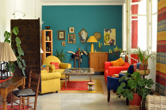 Bright And Colorful Living Room