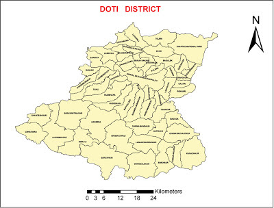 Doti District map