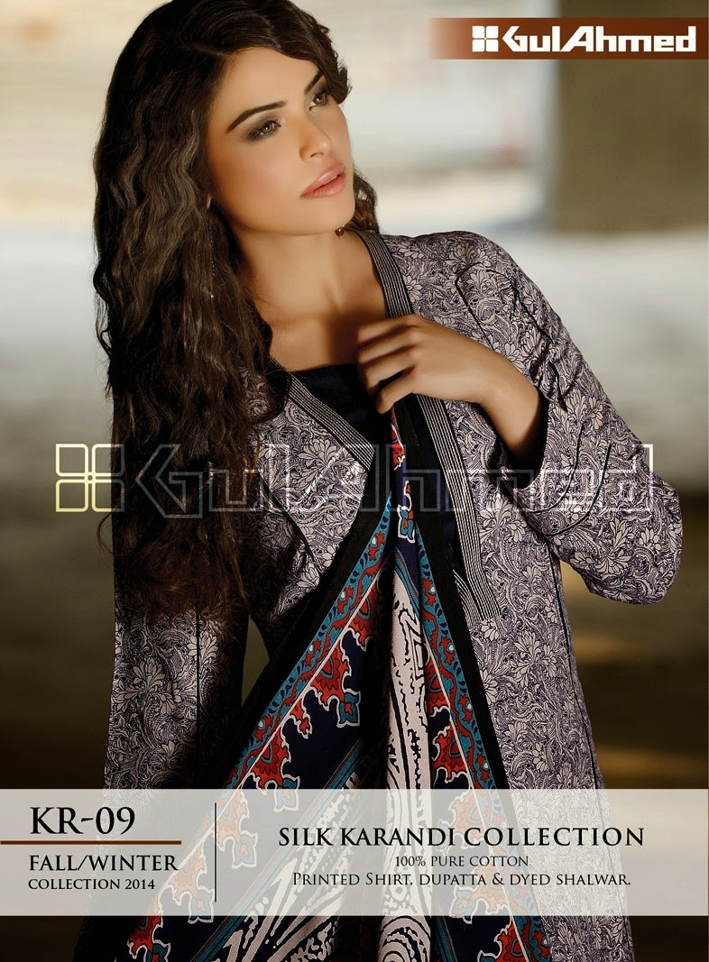 GulAhmed Fall/Winter 2014 Silk Karandi Collection - KR-09
