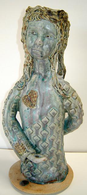 2 Headed Green Goddess Candlestick