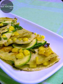 Corn & Zucchini Quesadillas