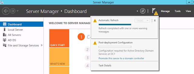 promote windows server 2012 as domain controller