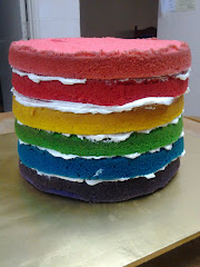 7 Inches Tall Rainbow Cake