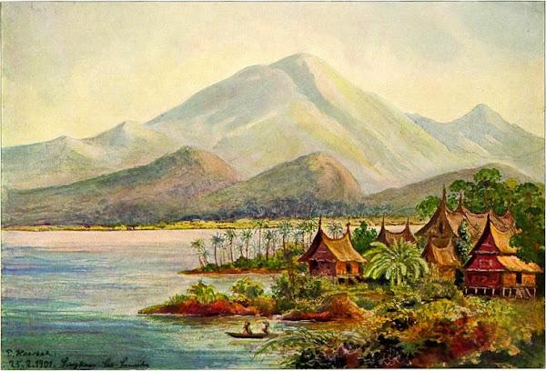 Lukisan Danau Singkarak, Karya Ernst Haeckel (1905). ZonaAero