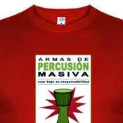 Camiseta Armas de percusión masiva III - Djembe