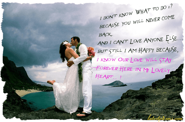 true heart lovely couple kiss photo quotes