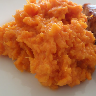 Mashed Sweet Potatoes with Coconut Oil:  Simple mashed sweet potatoes with coconut oil.  That's it and it is delicious.