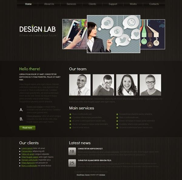 Design.lab - Free Wordpress Theme