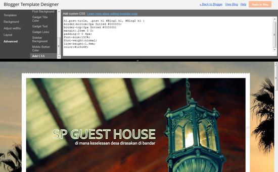 CSS3.0 Maker - Cantikkan Blog Semudah A, B, C