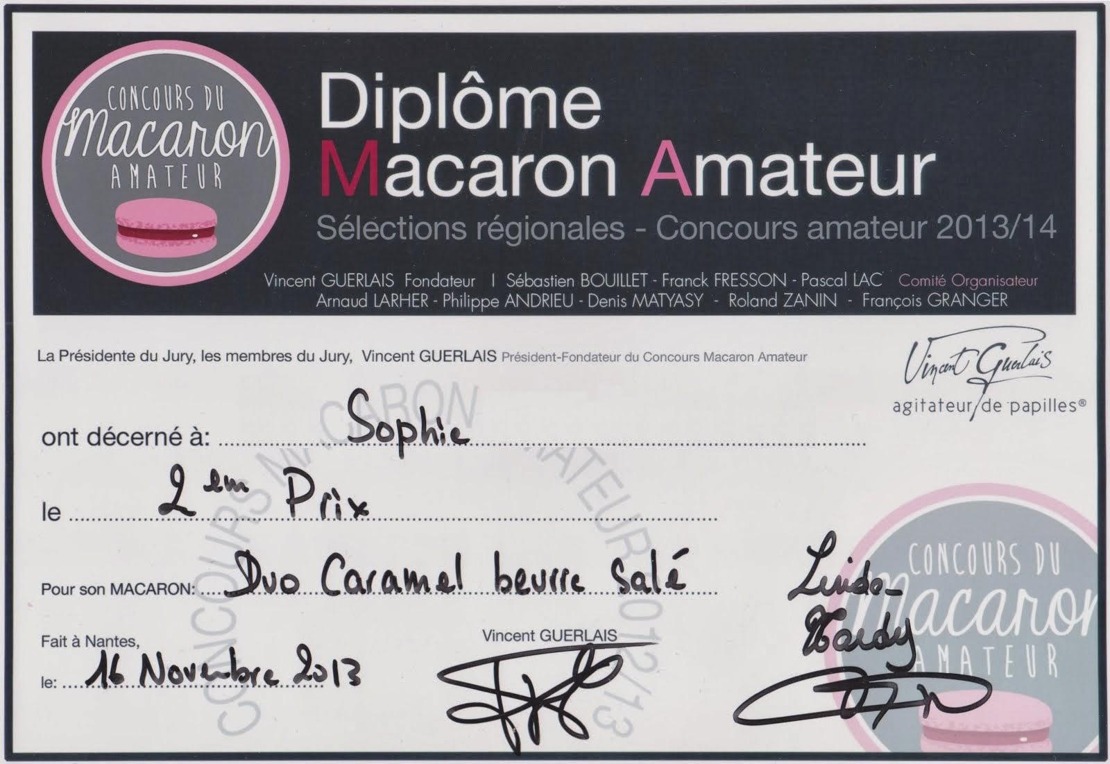 2ème Prix du Concours Macaron Amateur