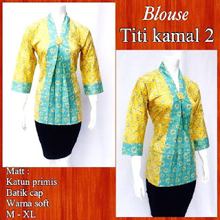 Model Blouse Batik Titi Kamal DBT 4243