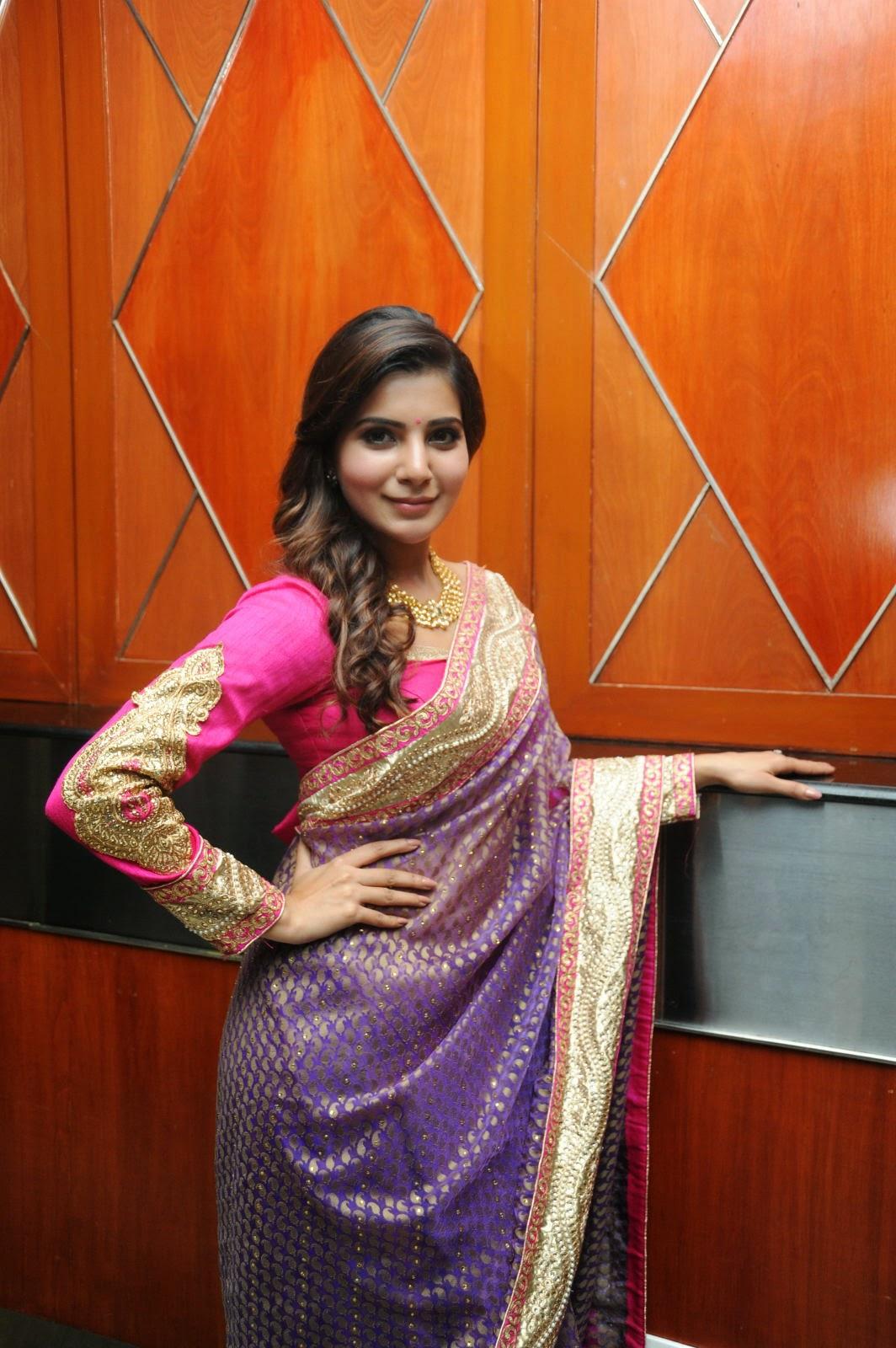 Samantha gorgeous photos in saree-HQ-Photo-16