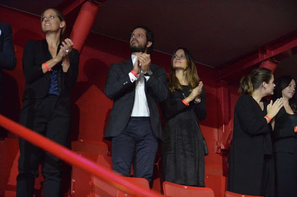 Princess Sofia Hellqvist of Sweden and Prince Carl Philip of Sweden attended a charity concert in Stockholm