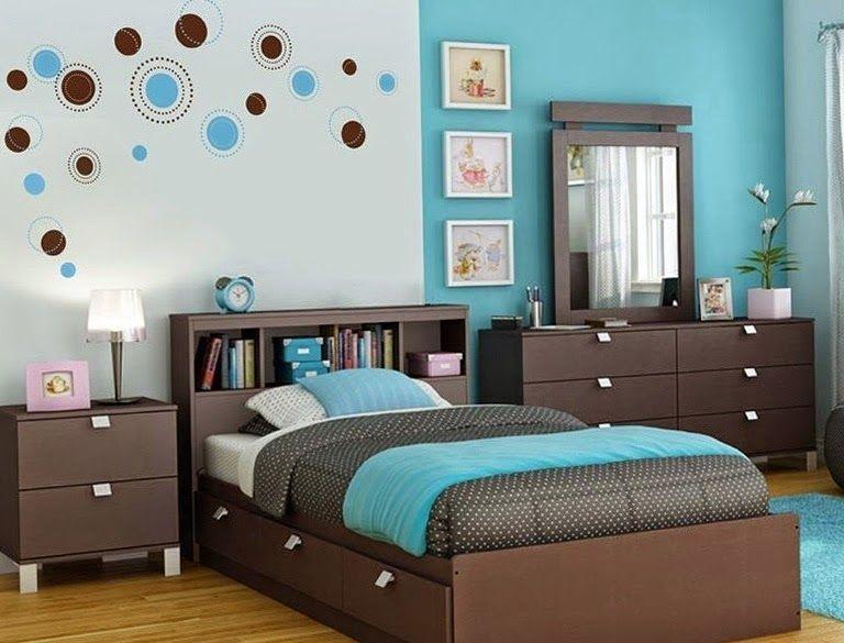 cuartos para adolescentes en gris y turquesa dormitorios