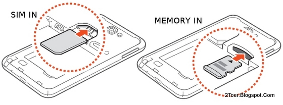 Insert and Remove SIM Card and Memory Card on Samsung Galaxy Note GT