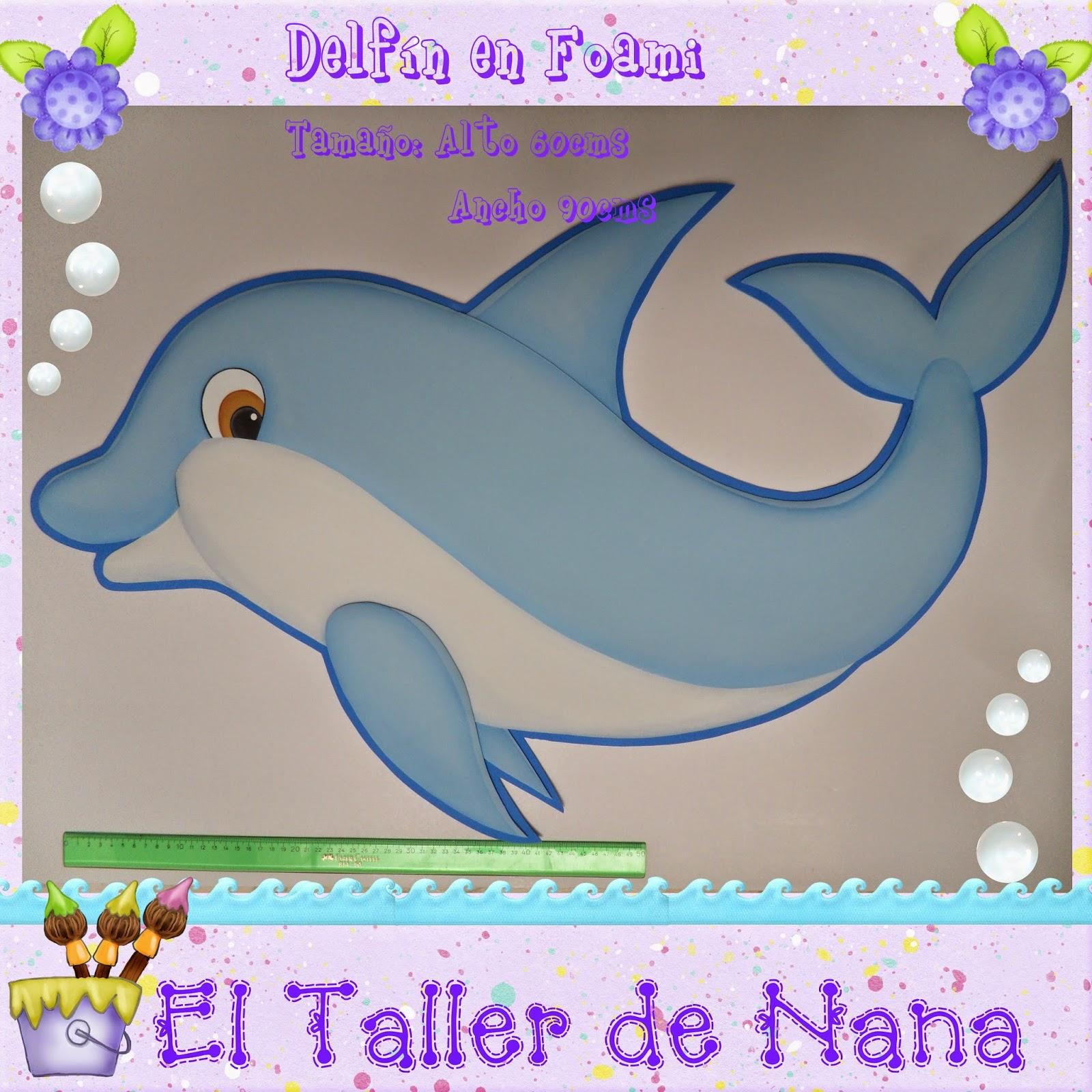 El Taller de Nana: Aplique Delfín en foami