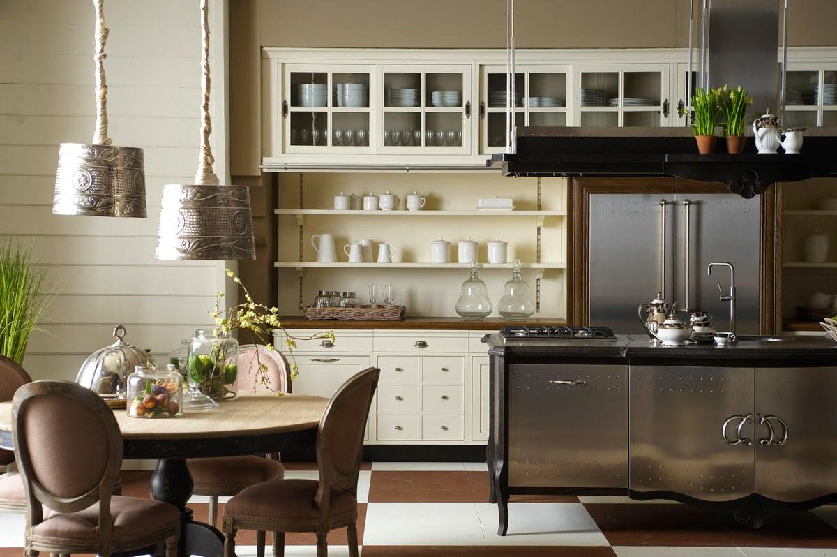 cozinha de Ana Maria mescla armários de madeira com os de aço  #4B6118 1200x798