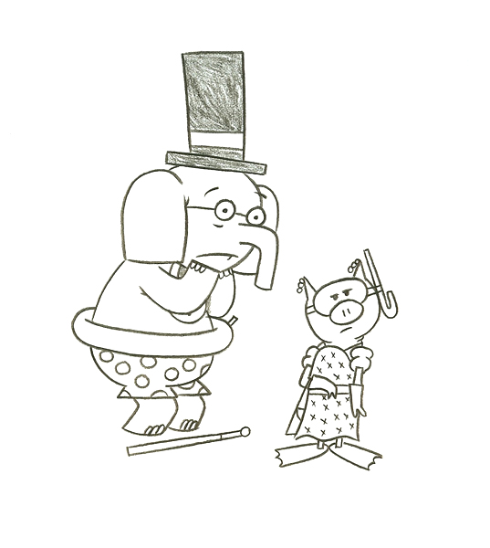 Have a fabulous weekend for Piggie and gerald coloring pages