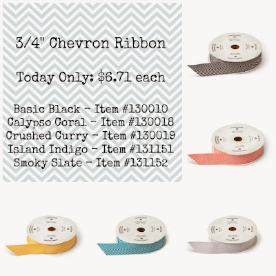 Stampin' Up! Chevron Ribbon Sale
