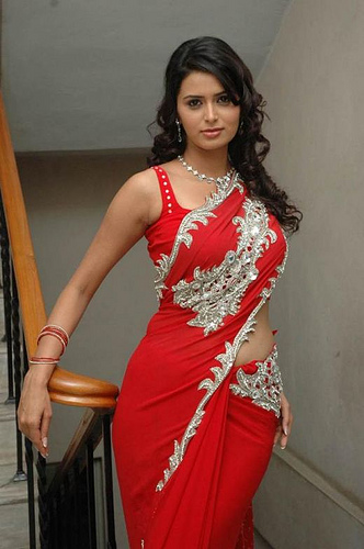 Red Hot Saree For Hot Indian Women