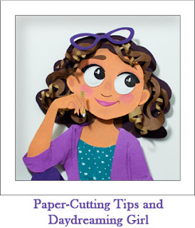 Tickled by the Creative Bug - Paper-Cutting Tips and Daydreaming Girl: Link to blog post