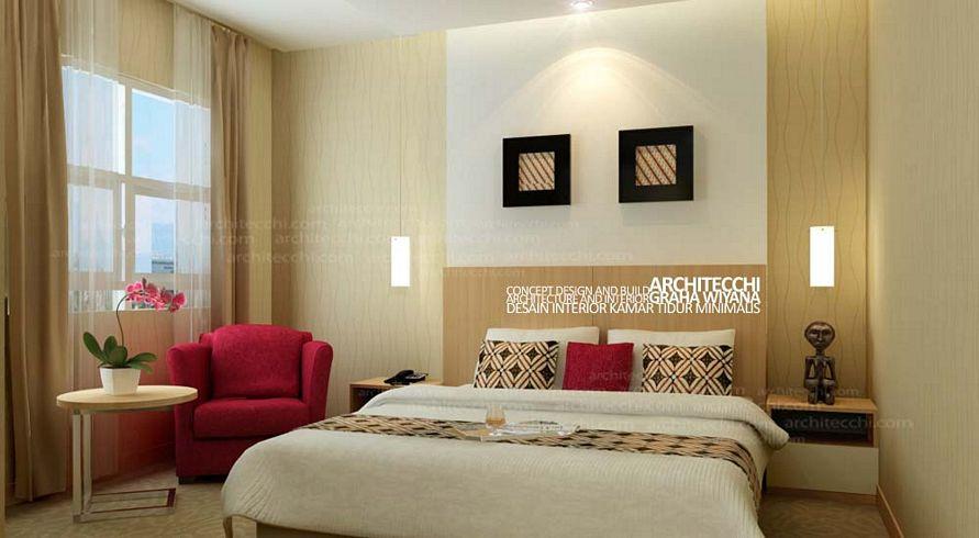 contoh cat interior kamar tidur minimalis banyak disukai
